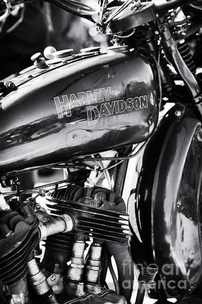 Harley Davidson Black And White Wall Art - Photograph - Vintage Harley Monochrome by Tim Gainey