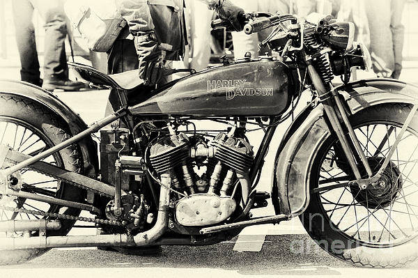 Harley Davidson Black And White Wall Art - Photograph - Vintage Harley by Tim Gainey