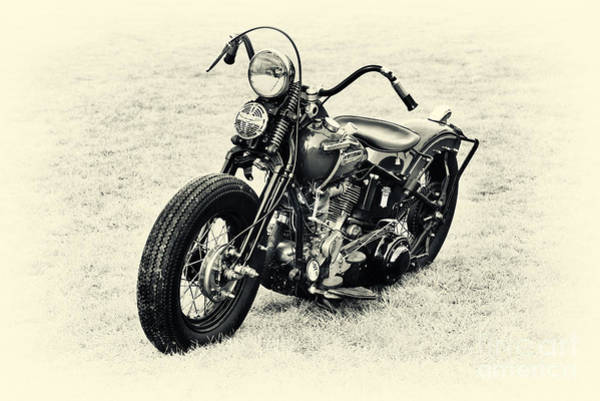 Harley Davidson Black And White Wall Art - Photograph - Vintage Hd Panhead by Tim Gainey