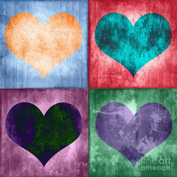 Wall Art - Digital Art - Vintage Hearts by Delphimages Photo Creations