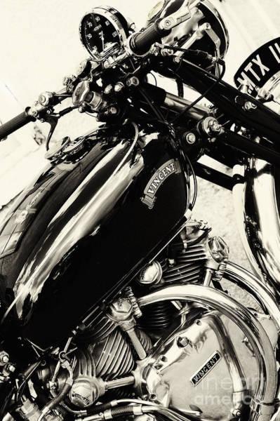 Photograph - Vintage Hrd Vincent Series C Black Shadow by Tim Gainey