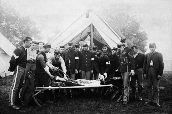 Vintage Image Of Civil War Reenactment Art Print by Thinkstock Images