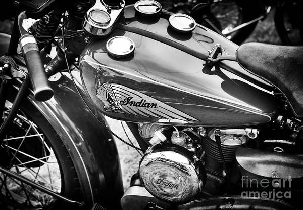 Wall Art - Photograph - Vintage Indian Motorcycle by Tim Gainey