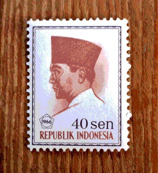 Stamp Collecting Photograph - Vintage Indonesia Stamp by Deena Stoddard