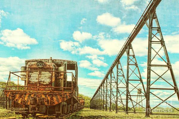 Photograph - Vintage Industrial Postcard by Olivier Le Queinec