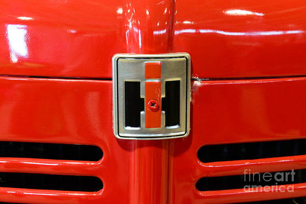 Pull Wall Art - Photograph - Vintage International Harvester Tractor Badge by Paul Ward