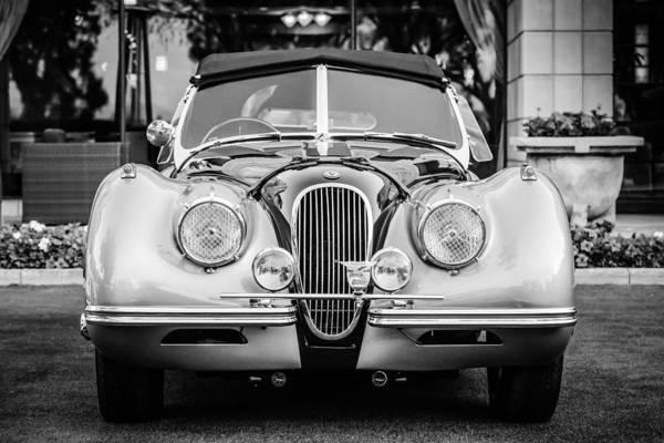 Photograph - Vintage Jaguar -0924bw by Jill Reger