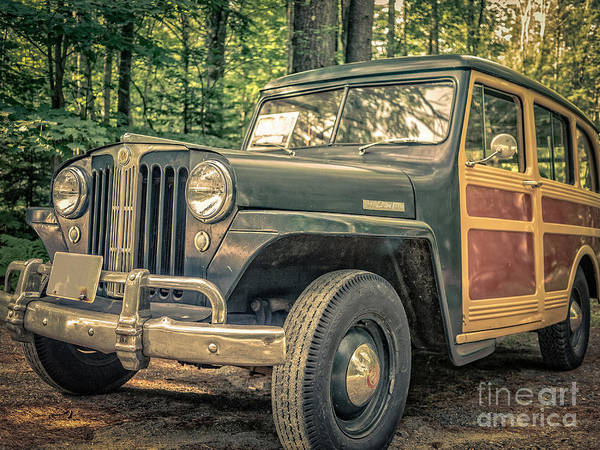 Off-road Vehicles Photograph - Vintage Jeep Station Wagon by Edward Fielding