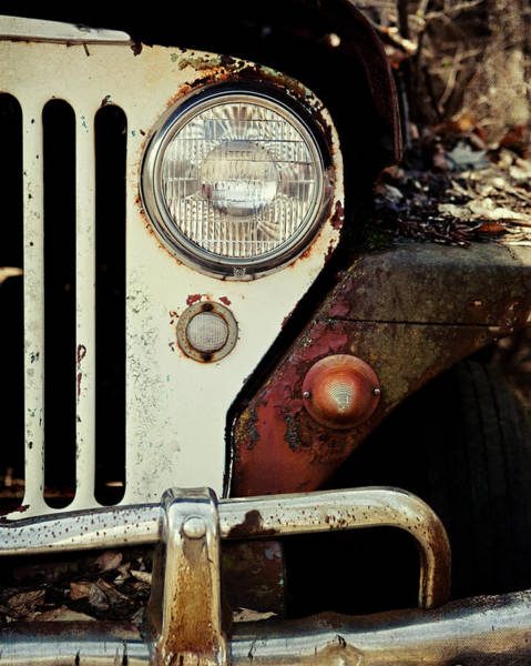 Lisa Photograph - Vintage Jeep Willys Rusty Classic Car by Lisa Russo