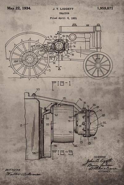 Digital Art - Vintage John Deere Tractor Patent by Dan Sproul