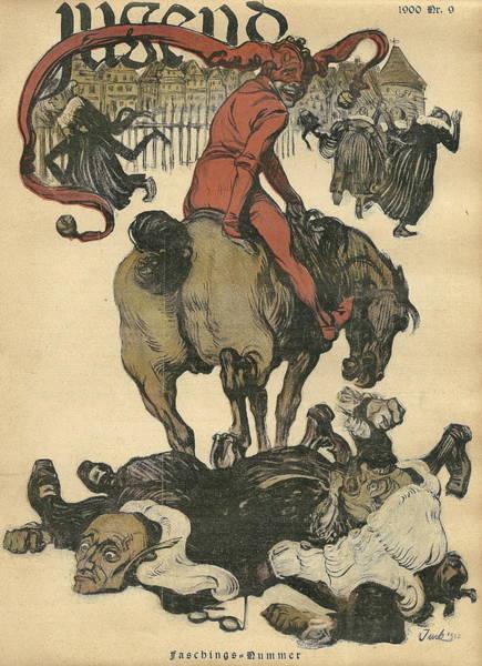 Vintage Jugend Magazine Cover Art Print