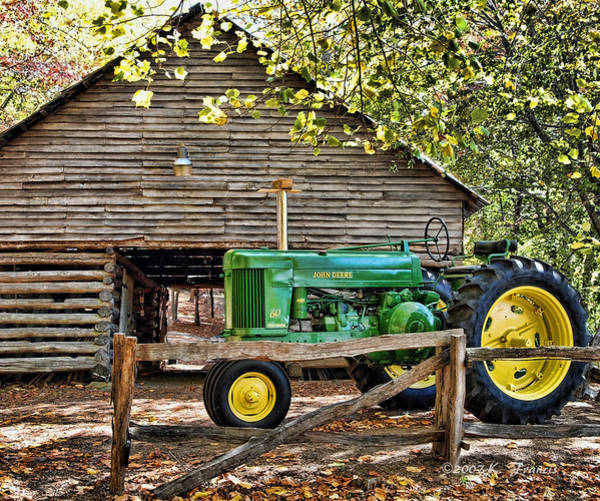 Tractor Photograph - Vintage by Kenny Francis