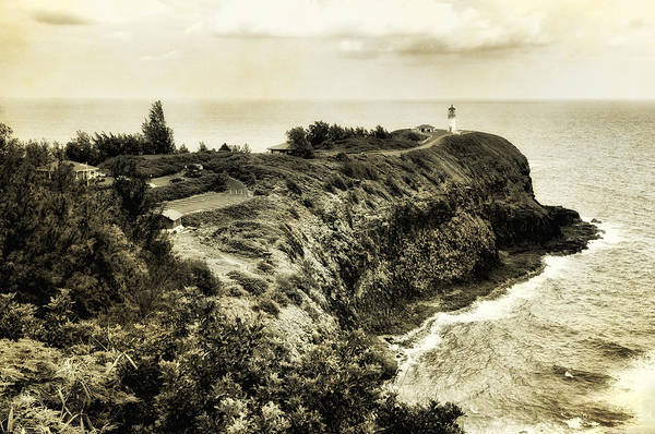 Photograph - Vintage Kilauea Lighthouse by Photography  By Sai