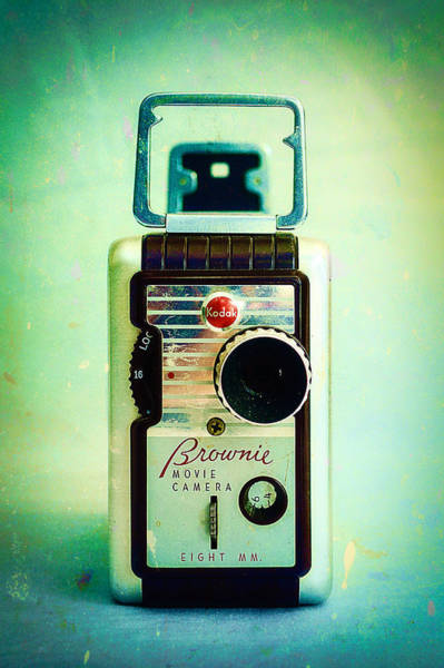 Kodachrome Wall Art - Photograph - Vintage Kodak Brownie Movie Camera by Jon Woodhams