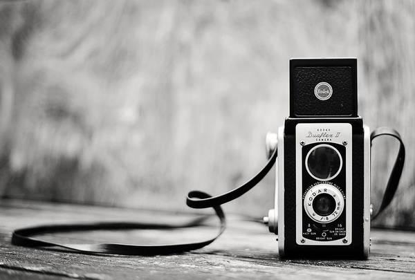 Photograph - Vintage Kodak Duaflex II Camera Black And White by Terry DeLuco