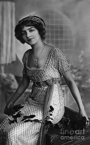 Photograph - Vintage Lady Art Holly Bw Limited Sizes by Lesa Fine