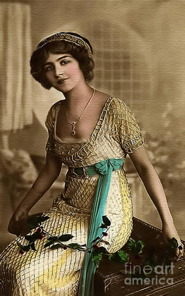 Photograph - Vintage Lady Art Holly  Limited Sizes by Lesa Fine