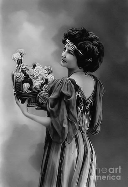 Photograph - Vintage Lady Emma Bw by Lesa Fine
