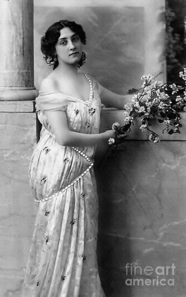 Photograph - Vintage Lady I  Bw Limited Sizes by Lesa Fine