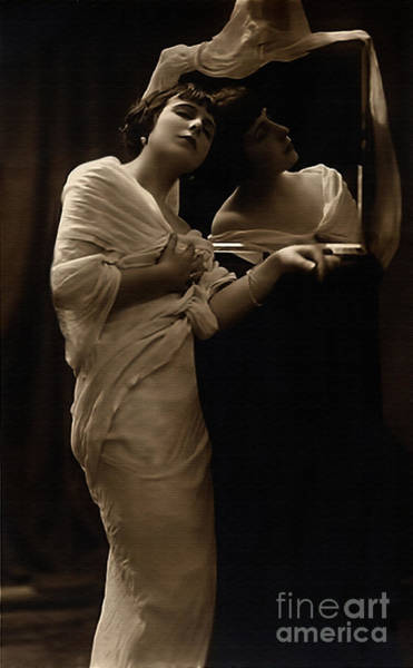 Photograph - Vintage Lady II Mirrored Image Limited Sizes by Lesa Fine