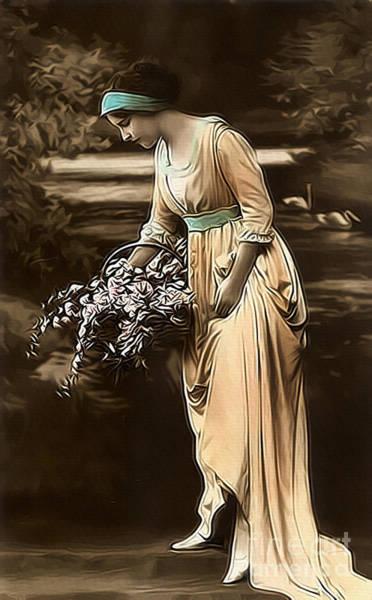 Photograph - Vintage Lady V Lila Limited Sizes by Lesa Fine