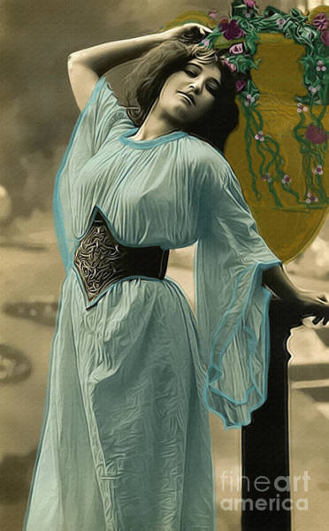 Photograph - Vintage Lady With Urn by Lesa Fine