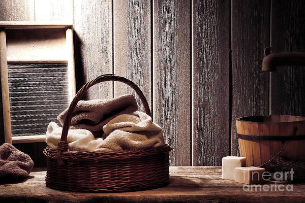 Wicker Photograph - Vintage Laundromat by Olivier Le Queinec