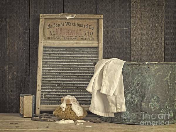 Fielding Photograph - Vintage Laundry Room II By Edward M Fielding by Edward Fielding