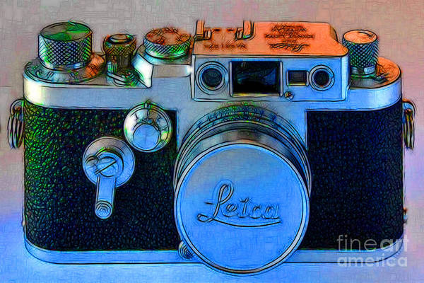 Photograph - Vintage Leica Camera - 20130117 - V1 by Wingsdomain Art and Photography