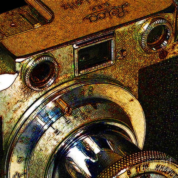 Photograph - Vintage Leica Camera - 20130117 - V2 - Square by Wingsdomain Art and Photography