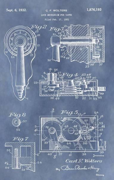 Code Breaker Wall Art - Mixed Media - Vintage Lock Patent by Dan Sproul
