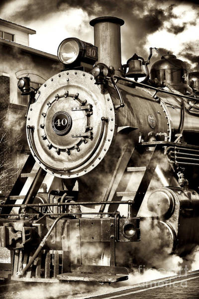 Photograph - Vintage Locomotive by John Rizzuto