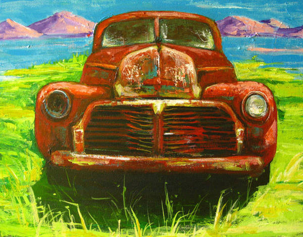 Old Chevy Truck Painting - Vintage Love by Patricia Awapara
