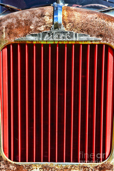 Mack Photograph - Vintage Mack Grill by Paul Ward