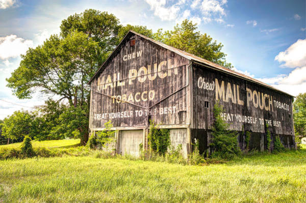 Pouch Wall Art - Photograph - Vintage Mail Pouch Barn by Gregory Ballos