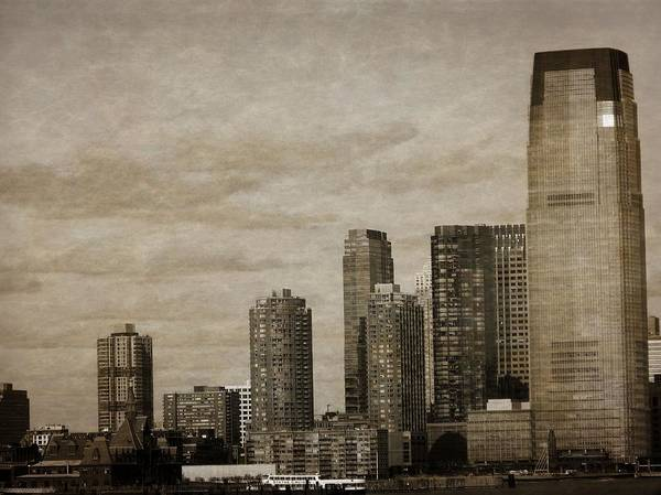 Battery D Photograph - Vintage Manhattan Skyline by Dan Sproul