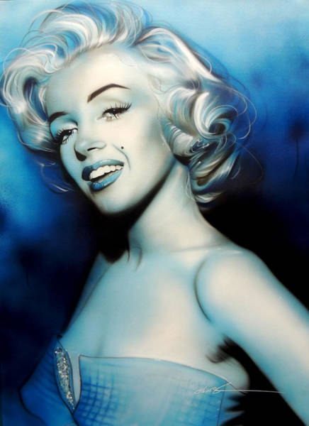 Monochrome Painting - Vintage Marilyn by Christian Chapman Art