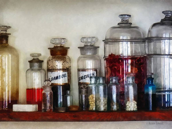 Photograph - Vintage Medicine Bottles by Susan Savad