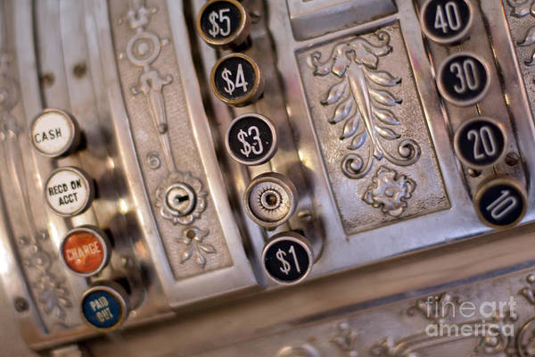 Photograph - Vintage Metal Cash Register by Gunter Nezhoda