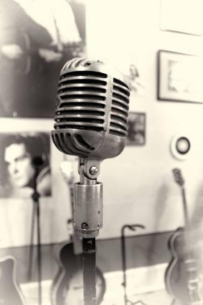 Photograph - Vintage Microphone Sun Studio by Dan Sproul