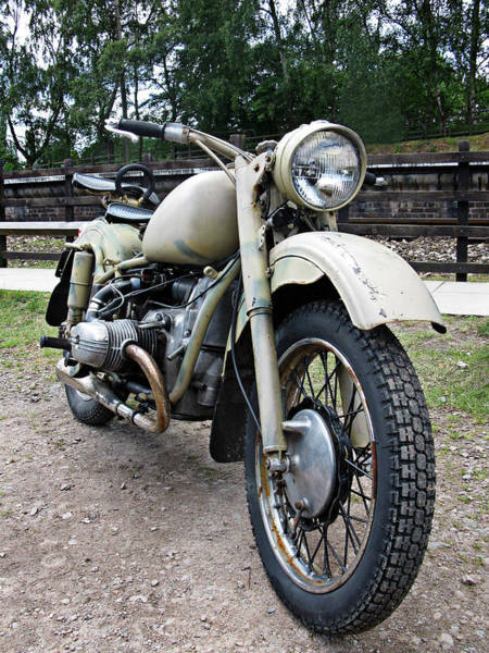 Vintage Conway Photograph - Vintage Military Motorcycle by Tom Conway