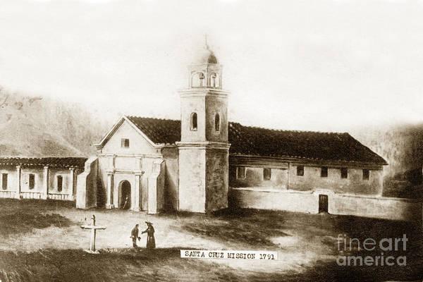 Photograph - Vintage Mission Santa Cruz California  Circa 1850 by California Views Archives Mr Pat Hathaway Archives