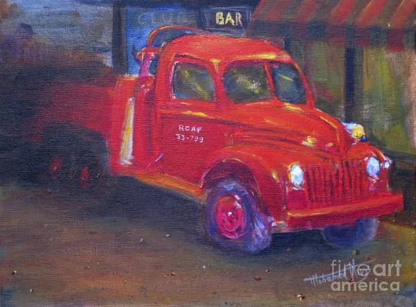 Vintage Fire Truck Painting - Vintage by Mohamed Hirji