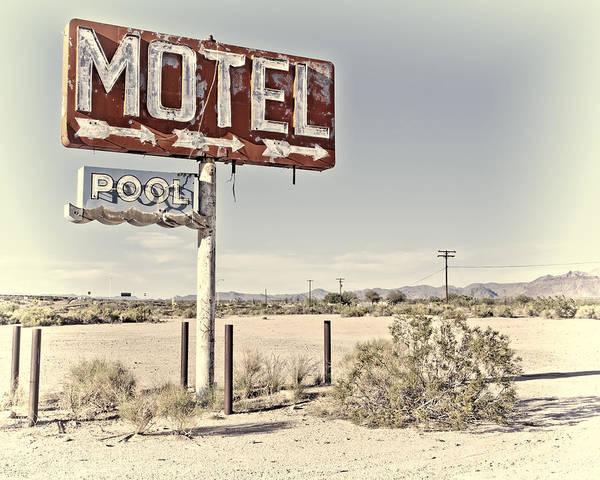 Vintage Motel Pool Sign Art Print
