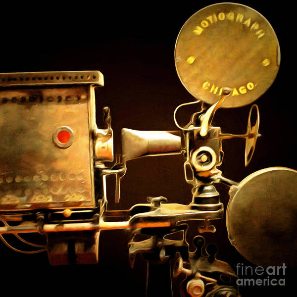 Photograph - Vintage Motion Picture Camera 7d13221 20150220 Square by Wingsdomain Art and Photography