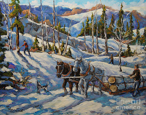 In Canada Painting - Vintage New England Loggers By Prankearts by Richard T Pranke