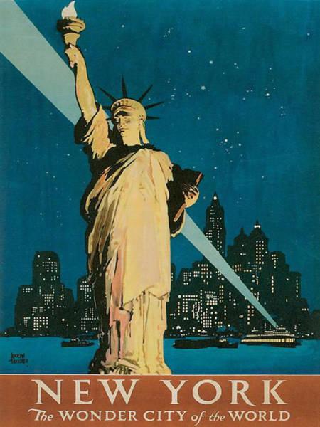 Midtown Manhattan Digital Art - Vintage New York by Georgia Fowler