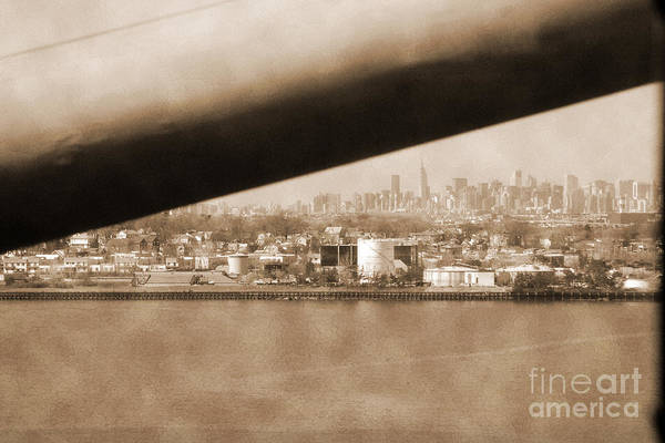 Photograph - Vintage New York Skyline From The Bridge by RicardMN Photography