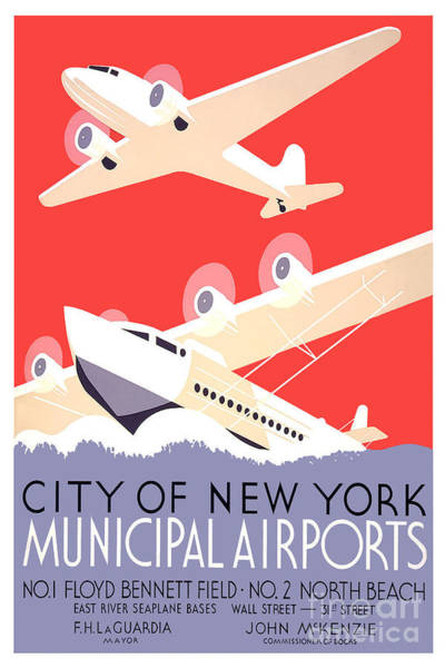Apple Drawing - Vintage New York Travel Poster by Jon Neidert