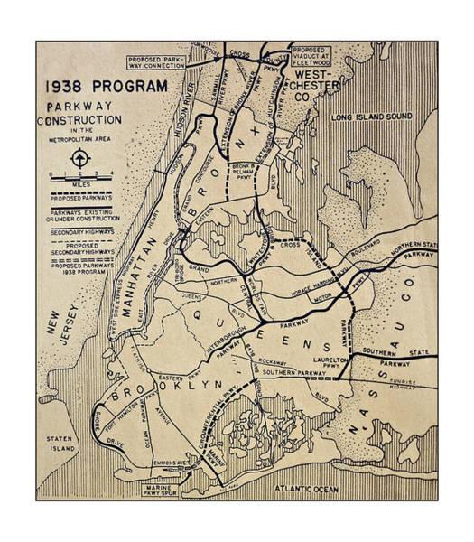 Vintage Newspaper Map Art Print